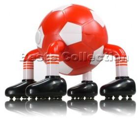 Massage Fussball Rot / Weiss