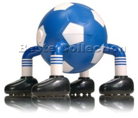Massage Fussball Blau / Weiss