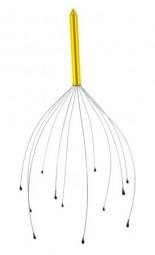 Manuelles Kopfmassagegerät aus Stahl, vergoldet