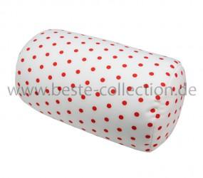Tube Weiß mit roten Punkten - Schlauchform
